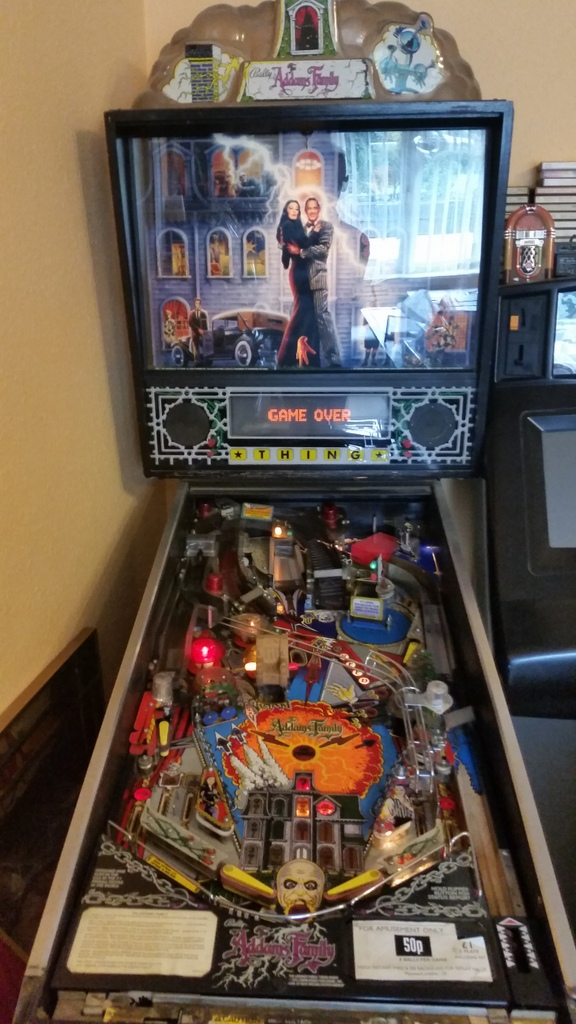 ADAMS FAMILY PINBALL - UK-VAC : UK Video Arcade Collectors Forum
